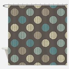 Modern Dots Shower Curtain