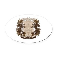 Palm Trees and Idol Oval Car Magnet