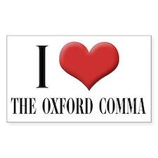 Cute Oxford comma Decal