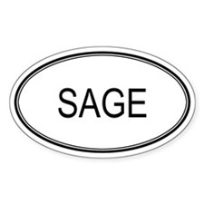 SAGE (oval) Oval Decal