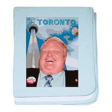 Rob Ford Mayor of Toronto baby blanket