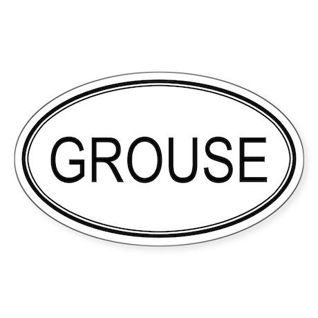 GROUSE (oval) Oval Sticker