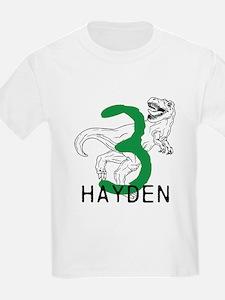 Dinosaur Third Birthday T-Shirt