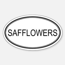 SAFFLOWERS (oval) Oval Decal