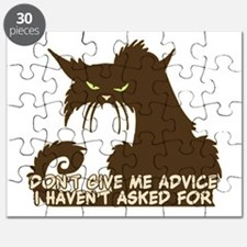 Don't Give Me Advice Angry Cat Saying Puzzle