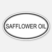 SAFFLOWER OIL (oval) Oval Decal