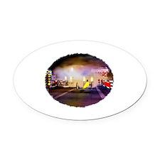 Beeline Dragway Tribute Oval Car Magnet