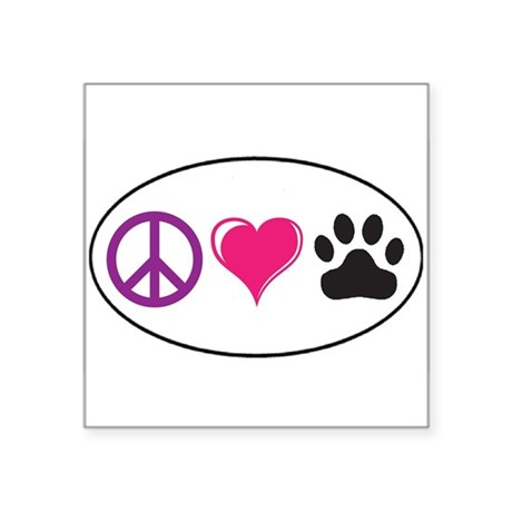 Peace, Love, Paws Sticker Sticker