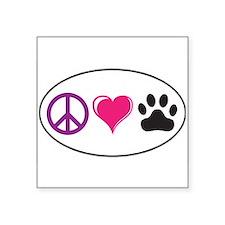 Peace, Love, Paws Sticker Sticker