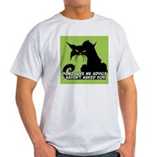 Don't Give Me Advice Angry Cat Sayin T-Shirt