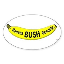 Banana Bush Republic Oval Decal