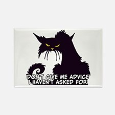 Don't Give Me Advice Angry Cat Sa Rectangle Magnet