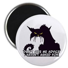 Don't Give Me Advice Angry Cat Saying Magnet