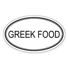 GREEK FOOD (oval) Oval Decal