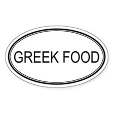 GREEK FOOD (oval) Oval Decal