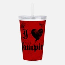 i-love-vampires_b.png Acrylic Double-wall Tumbler