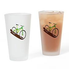 Green Mountain Bike Drinking Glass