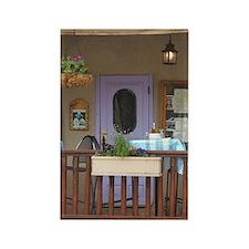 Cafe w' Lavender Door Rectangle Magnet