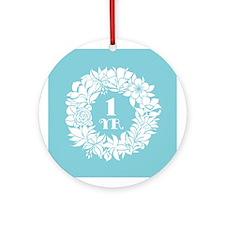 1st Anniversary Wreath Ornament (Round)