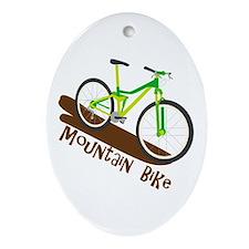 Mountain Bike Ornament (Oval)