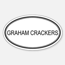 GRAHAM CRACKERS (oval) Oval Decal
