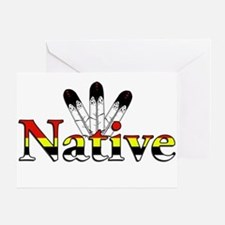 Native text with Eagle Feathers Greeting Cards