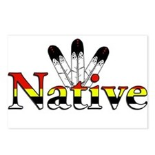 Native text with Eagle Feathers Postcards (Package