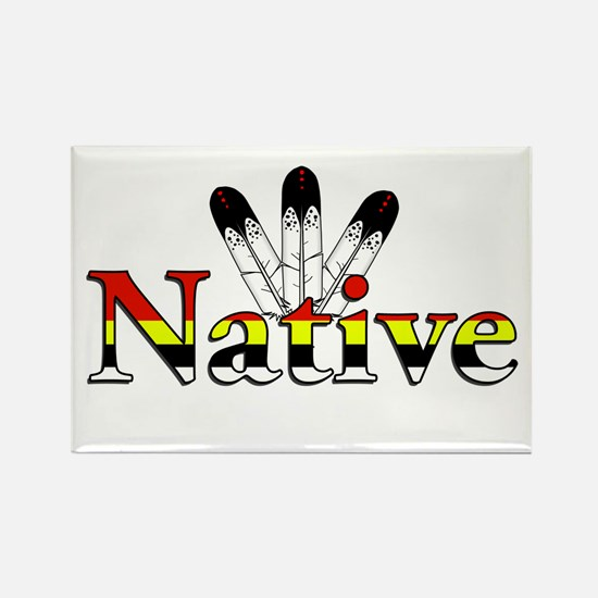 Native text with Eagle Feathers Magnets