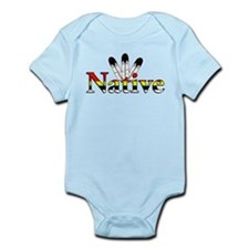 Native text with Eagle Feathers Body Suit