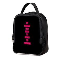 Cute Think pink Neoprene Lunch Bag