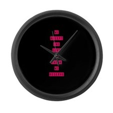 Unique Deserve Large Wall Clock