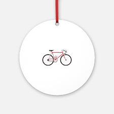 Red Road Bike Ornament (Round)