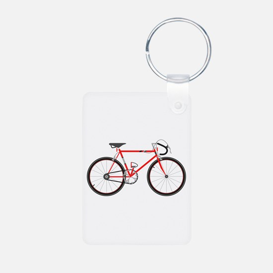 Red Road Bike Keychains