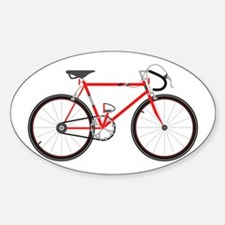 Red Road Bike Decal