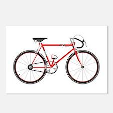 Red Road Bike Postcards (Package of 8)