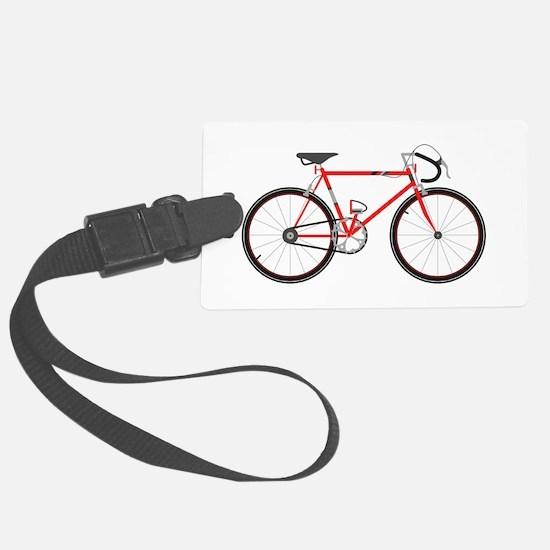Red Road Bike Luggage Tag