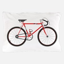 Red Road Bike Pillow Case