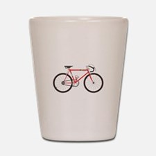 Red Road Bike Shot Glass