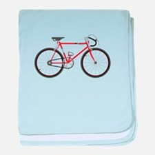 Red Road Bike baby blanket
