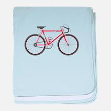 Red Road Bike baby blanket