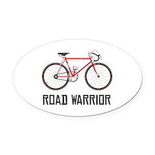 Road Warrior Oval Car Magnet