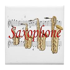 Saxophone Tile Coaster