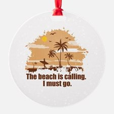 The beach is calling. Ornament