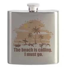 The beach is calling. Flask