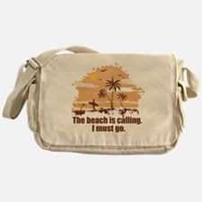 The beach is calling. Messenger Bag