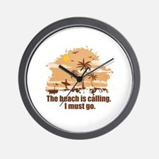 The beach is calling. Wall Clock