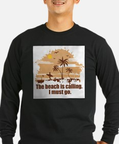 The beach is calling. Long Sleeve T-Shirt