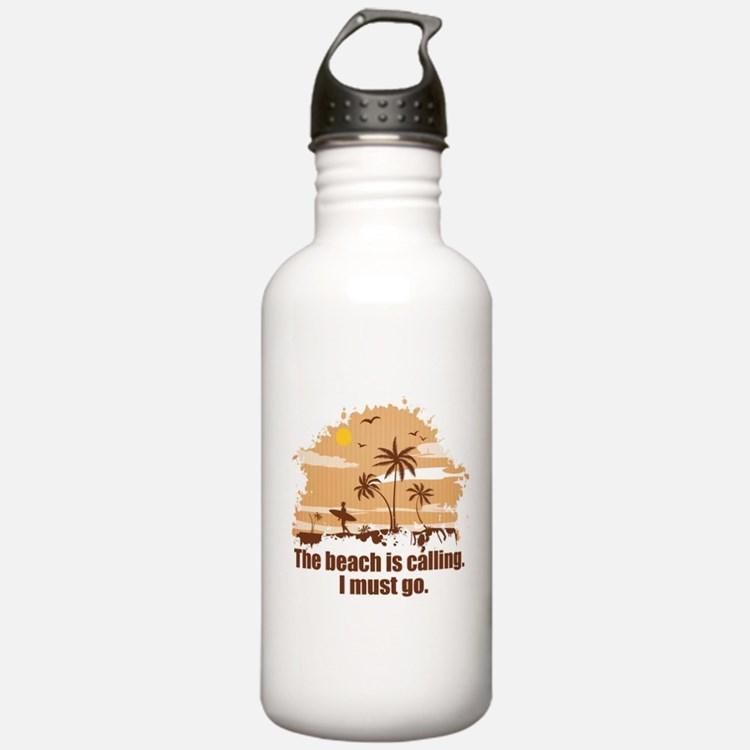 The beach is calling. Water Bottle