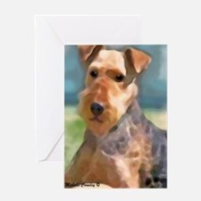 Unique Airedale birthday Greeting Card