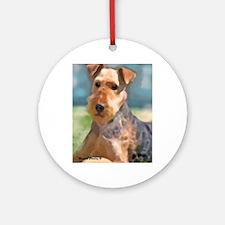 Cute Big sister dog Round Ornament